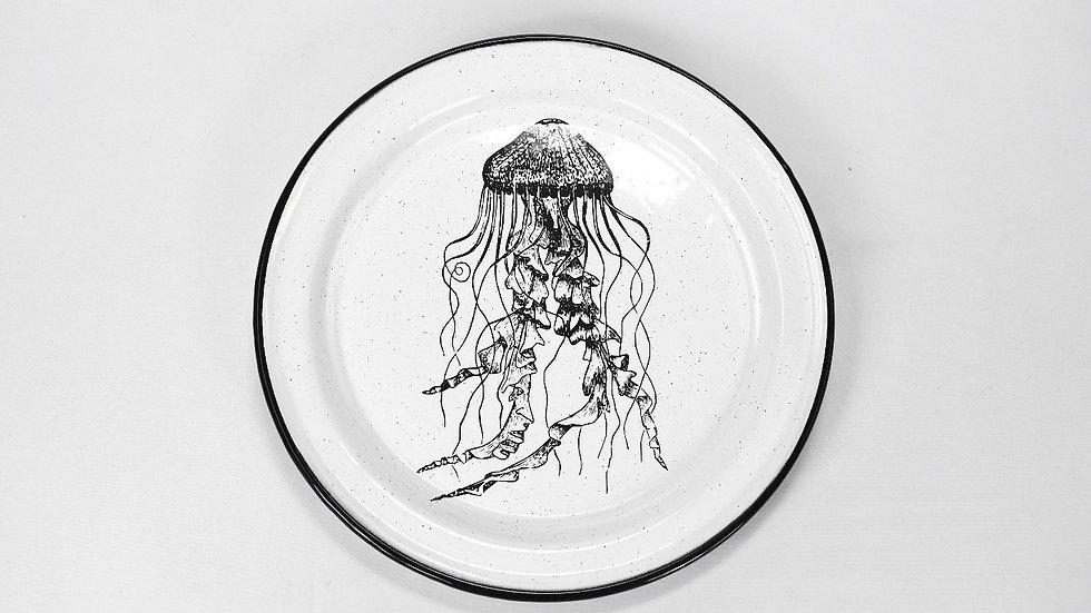 Enamel Salad Plate - Jellyfish