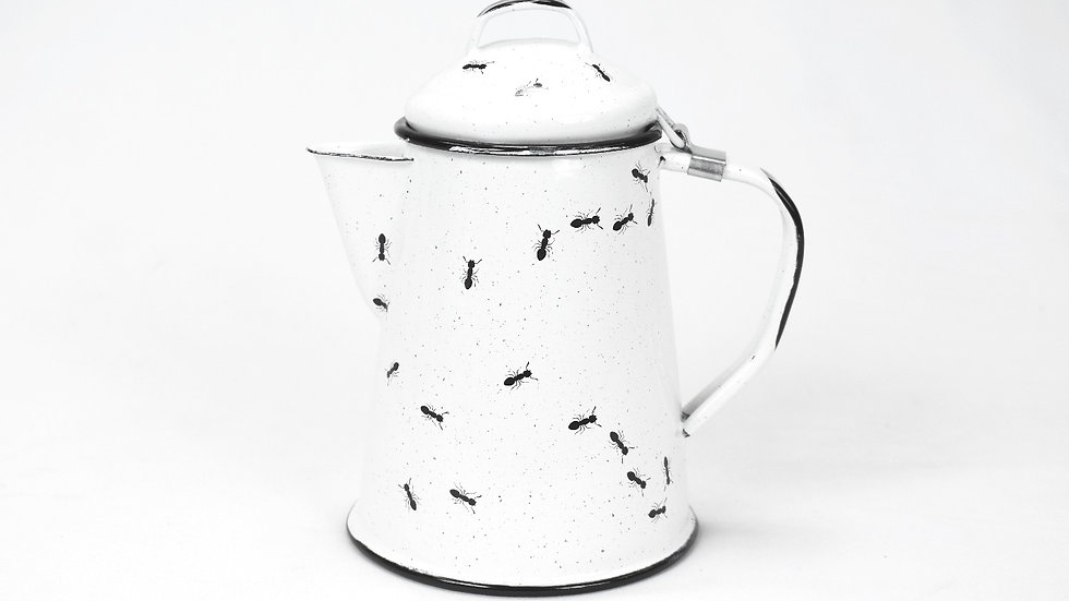 Enamel Teapot - Ants