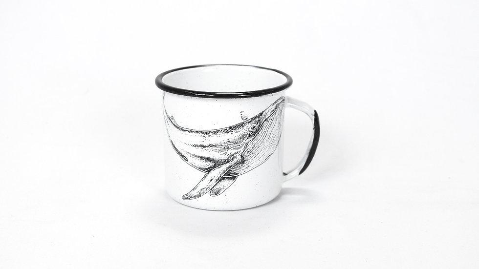 Enamel Espresso Cup - Whale