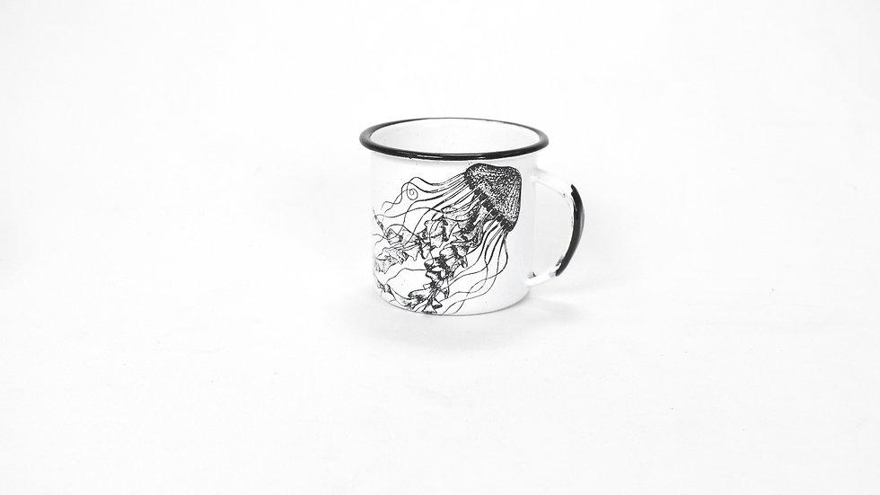 Enamel Espresso Cup - Jellyfish