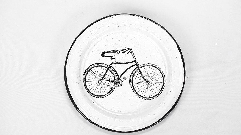 Enamel Salad Plate - Bicycle