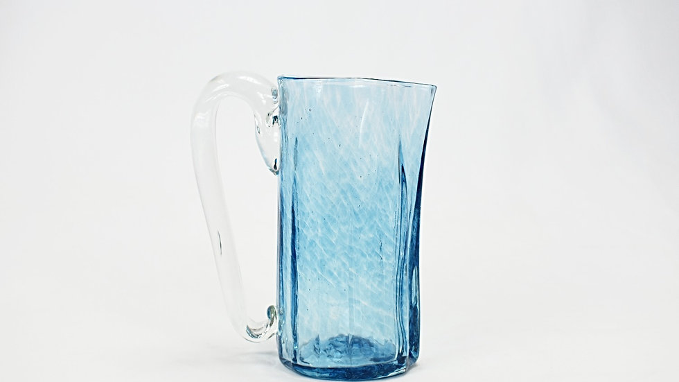 Glass Pitcher - Turquoise