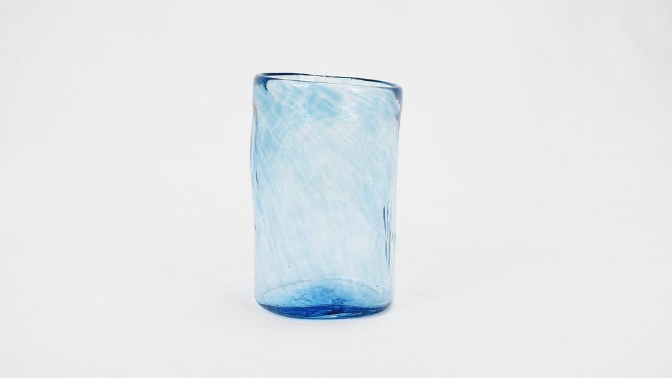 Large Glass Tumbler - Turquoise