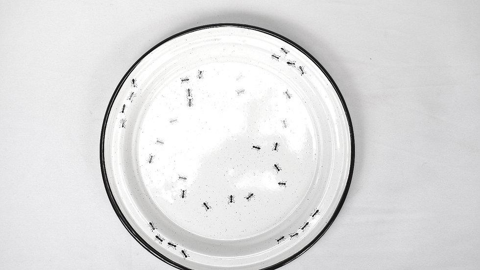 Enamel Dinner Plate - Ants