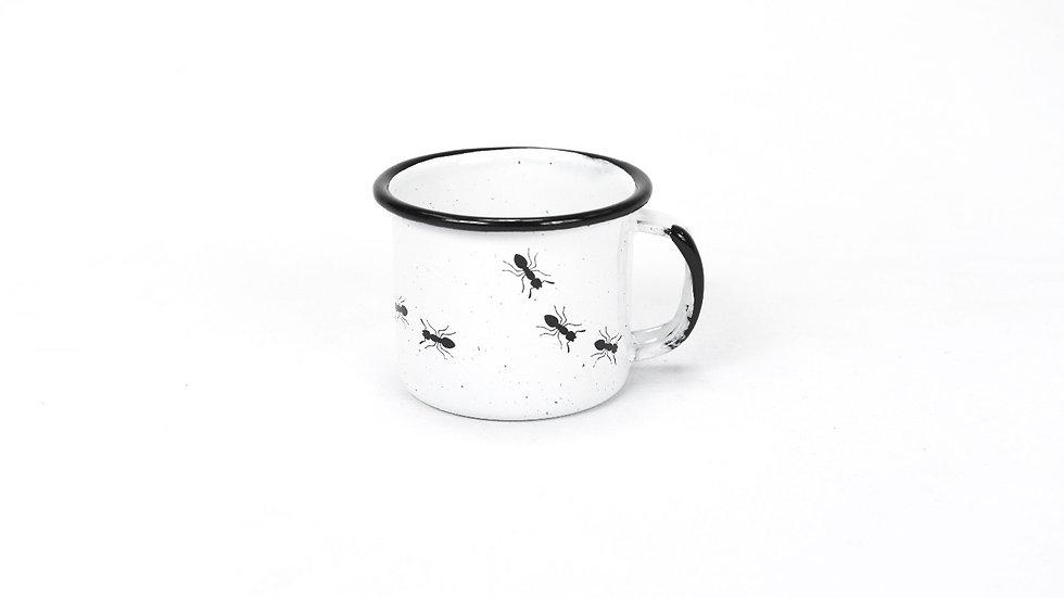 Enamel Espresso Cup - Ants