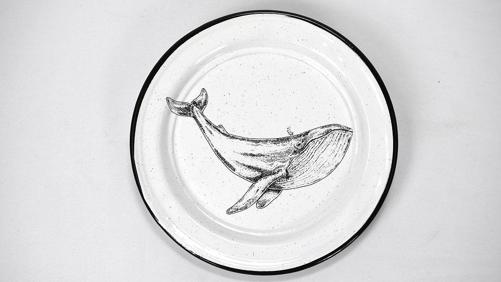Enamel Salad Plate - Whale