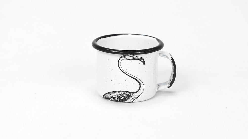 Enamel Espresso Cup - Flamingo