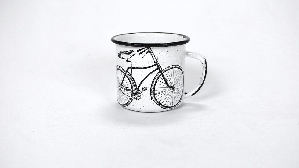 Enamel Coffee Cup - Bicycle