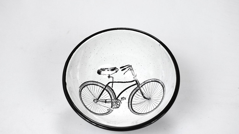 Enamel Chili Bowl - Bicycle