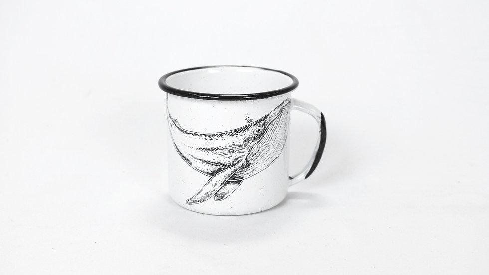 Enamel Coffee Cup - Whale
