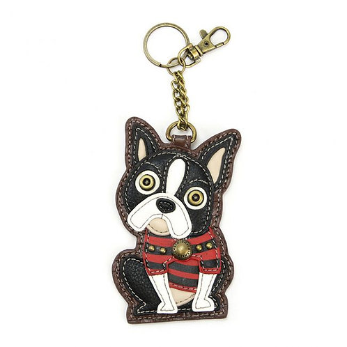 Boston Terrier - Key Fob / Coin Purse