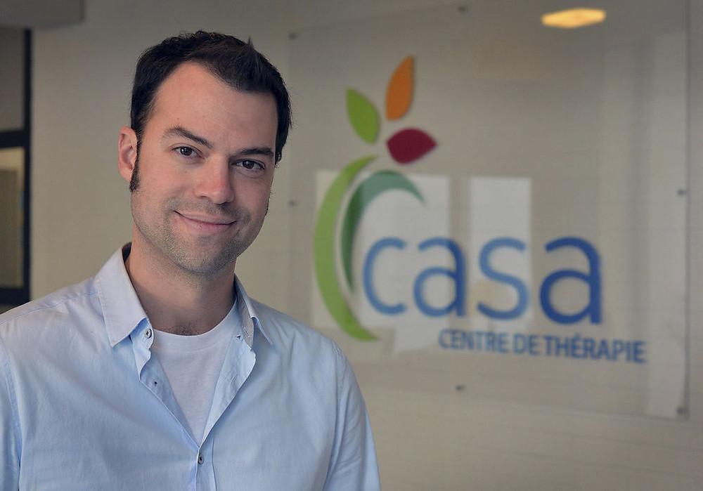 Maxime Verreault, conseiller d'orientation et intervenant psychosocial à CASA