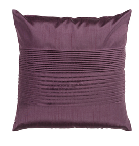 Solid Pleated Throw Pillow