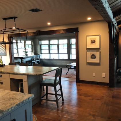 Kitchen view to Sunroom