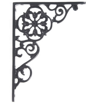 Restoration Star Scroll Shelf Brackets (pair)