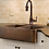Thumbnail: Hammered Copper Double Bowl Apron Sink