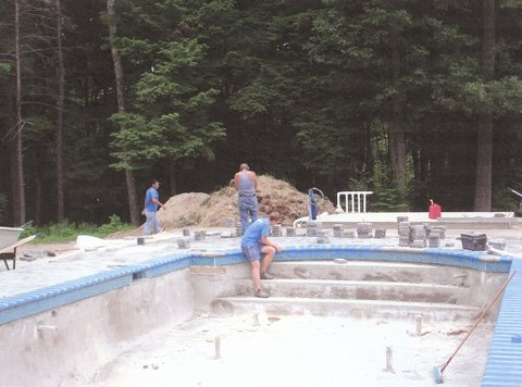 Pool House/ DURING