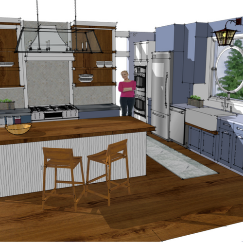 3D Design Concept of Kitchen