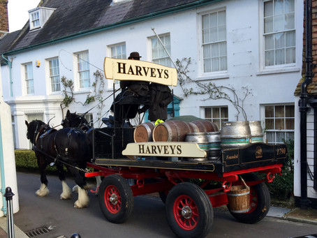 Old Style Beer Delivery By Harvey's Lewes