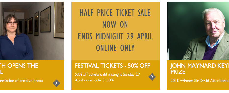 Half-price Charleston Literary Festival Tickets