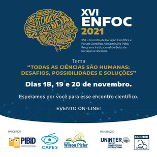 Estão abertas as inscrições para o ENFOC 2021