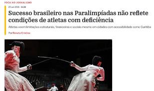 Foca no Jornalismo trata de limitações para atletas com deficiência