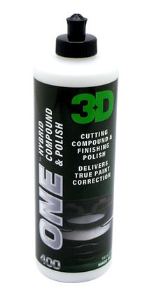 3D ONE HYBRID COMPOUND AND POLISH 16oz