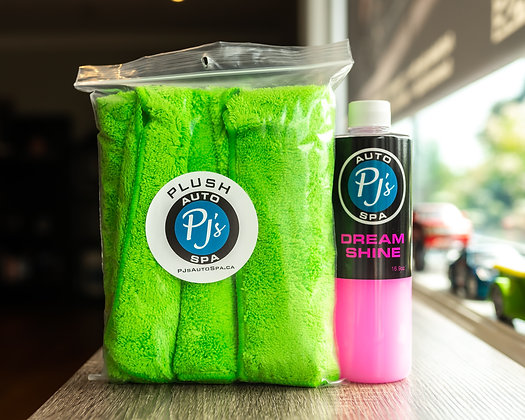 PJs Dream Shine + Plush towels