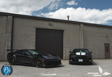 completed vette and camaro