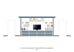 Meuble TV Bibliothèque sur-mesure