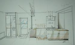 Croquis design d'espace réno