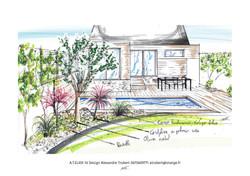 Conception globale piscine jardin