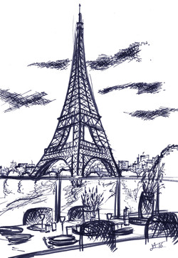 Paris tour eiffel croquis