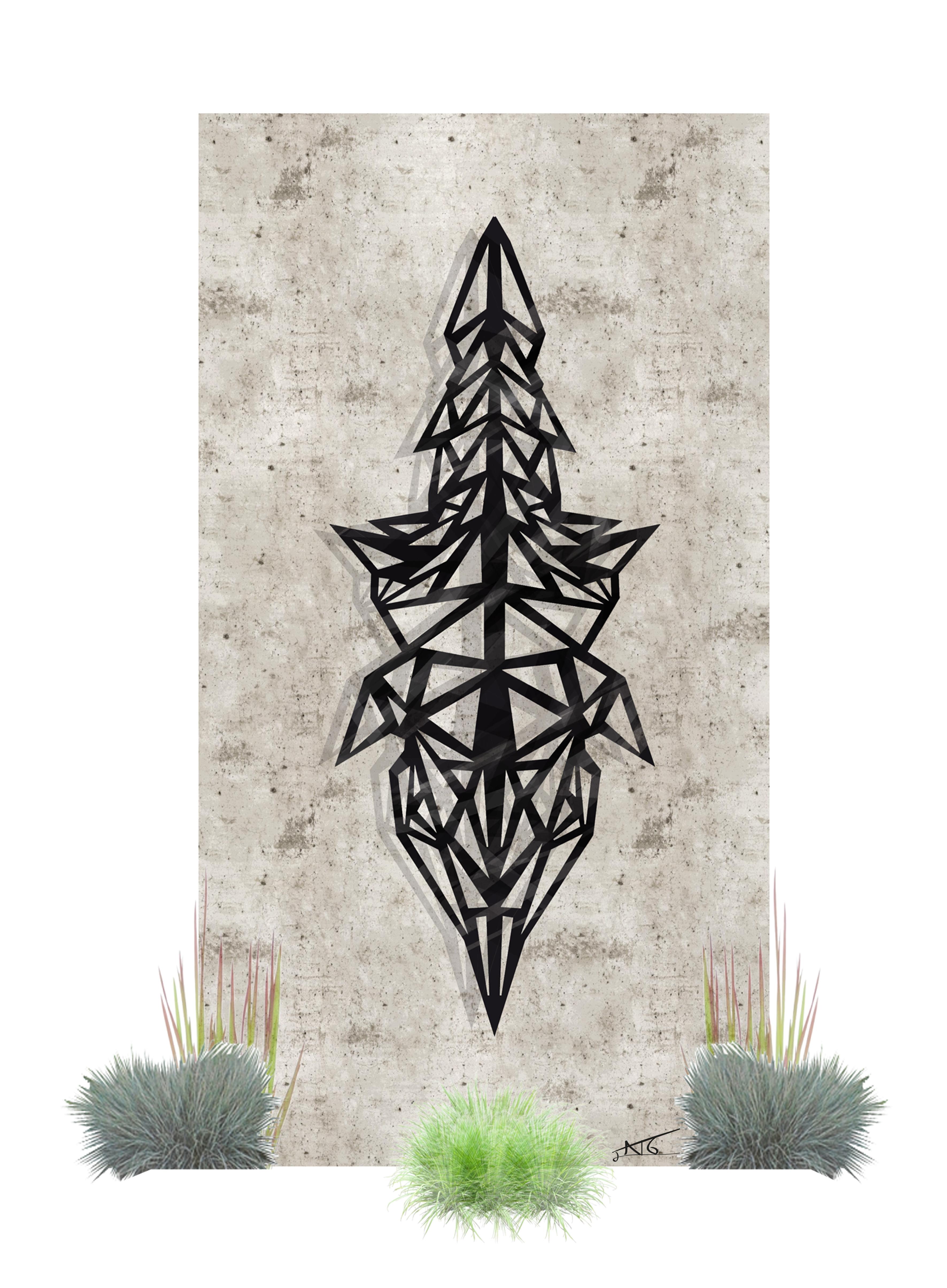 Découpe laser sculpture mur