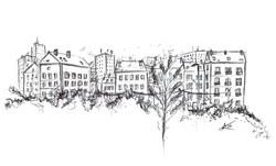 croquis paysage urbain