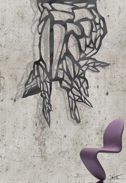 Projet client Sculpture sur béton