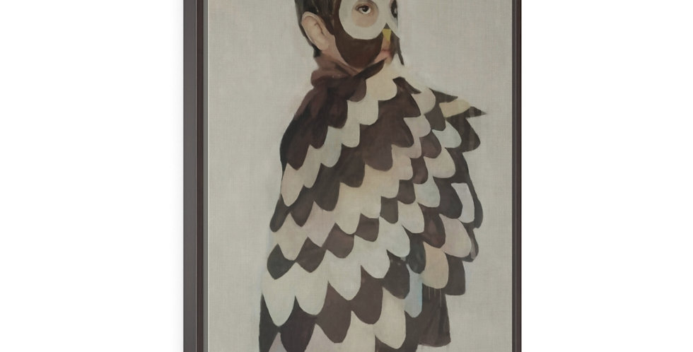 Boy Owl - 24x36 Framed Canvas Giclée Print