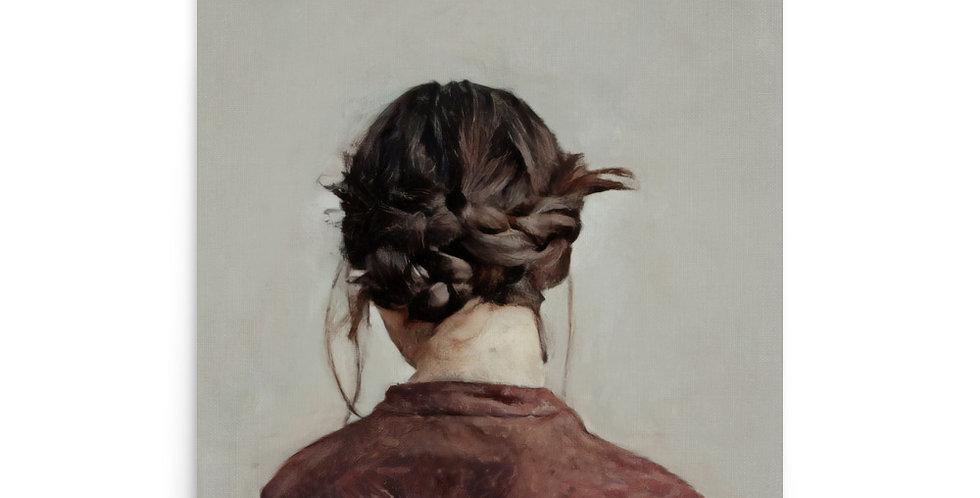 Woman Wears Braids - 16x20 Matte Giclée Print