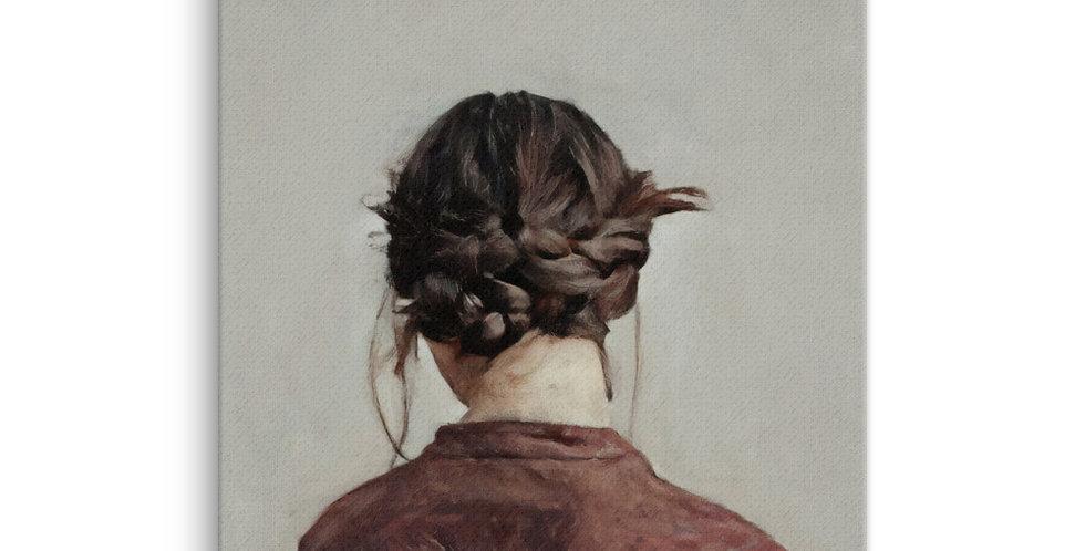 Woman Wears Braids - 16x20 Canvas Print