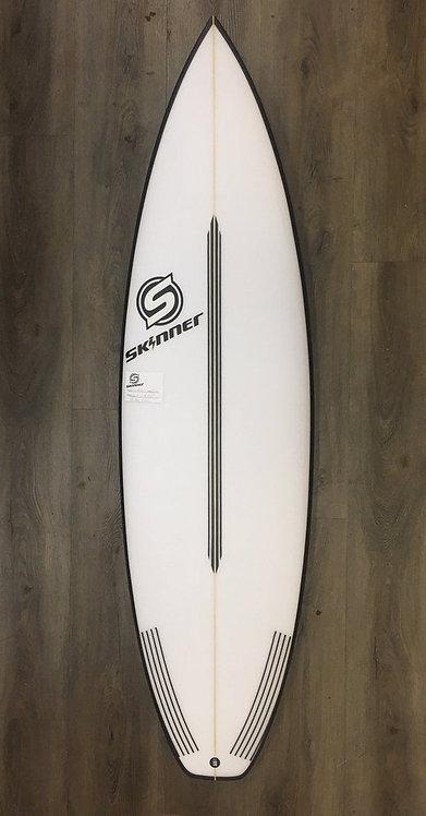 "SKINNER 6'1 X 19.75"" HYPER DRIVE Shortboard 31 Liters"