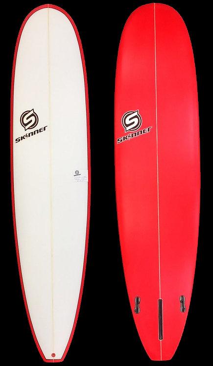 """SKINNER 7'6 X 21.25 X 2.65"""" Poly Mini Mini Longboard 50.7 Liters"""