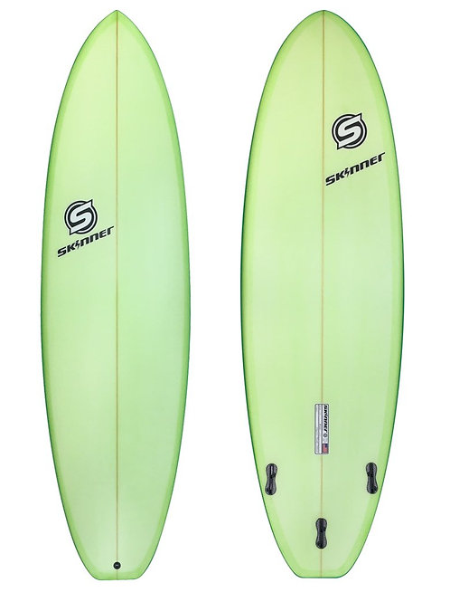 "SKINNER SURFBOARDS 6'8 X 22"" X 2.75"" PERFORMANCE FUNSHAPE PIGMENT - 44.5 LITERS"