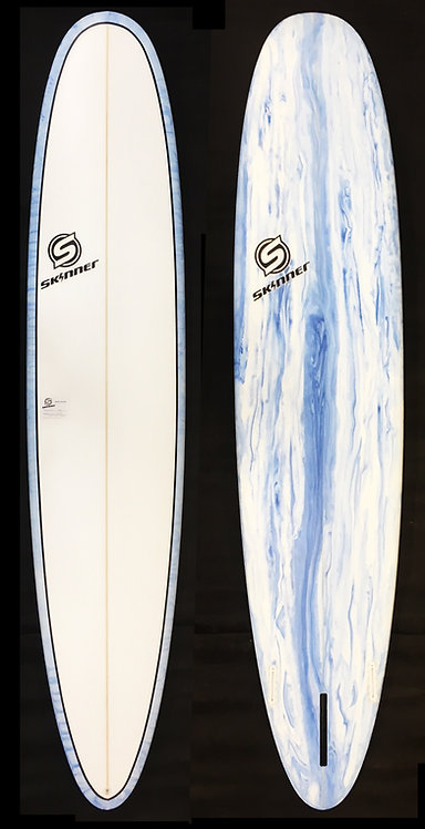 "SKINNER 9'2 X 23 X 3""Epoxy Longboard Acid Splash Bottom 67.4 Liters"