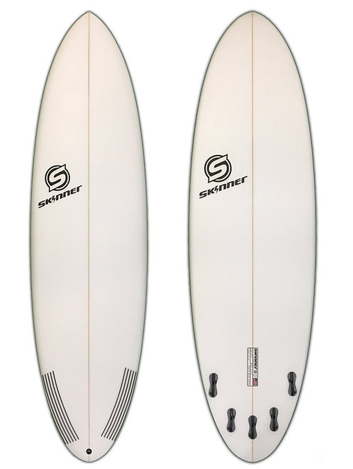 "SKINNER SURFBOARDS 6'10 X 22.15"" X 2.75"" PERFORMANCE FUNSHAPE RD TAIL EPS EPOXY"