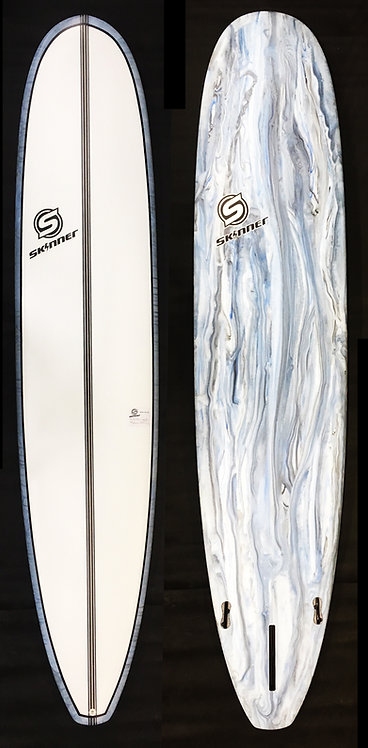 SKINNER 9'6 X 24 X 3 7/8 Mega Floater Longboard 100 Liters of Float Acid Bottom