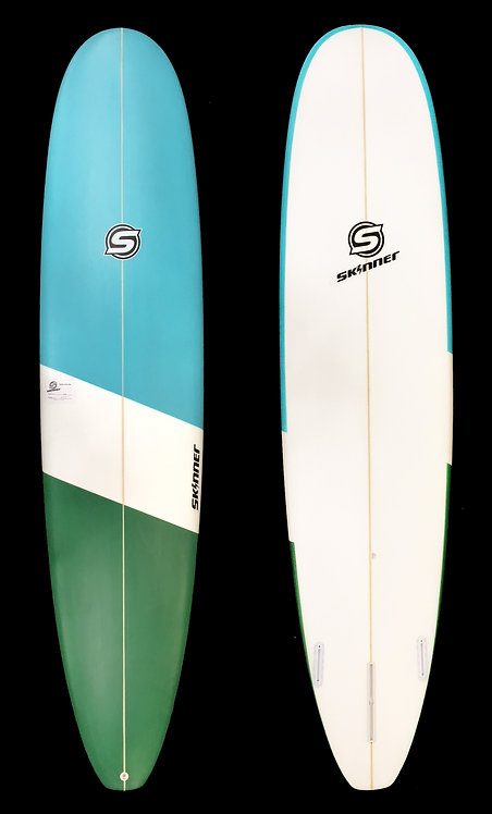 "SKINNER 8'6 X 22.75 X 2.65""Epoxy Longboard Epoxy Bottom 65.4 Liters"