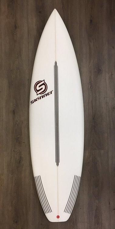 "SKINNER 6'0 X 19.75"" HYPER DRIVE Epoxy Shortboard 30.8 Liters"