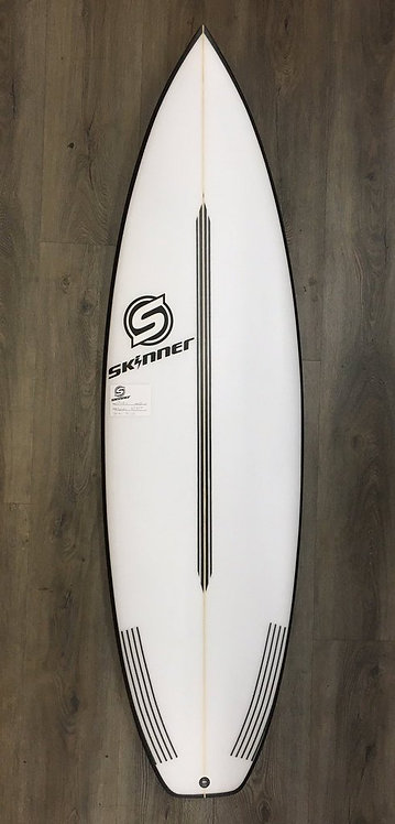 "SKINNER 6'0 X 20"" HYPER DRIVE Wide Tail Shortboard 32 Liters"