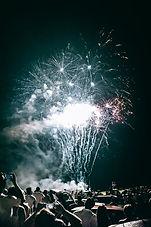 Show de fogos de artificio