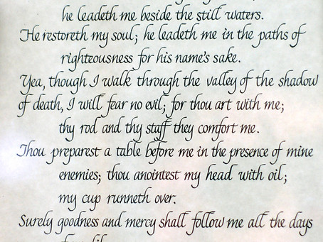 The Lord is My Shepherd...